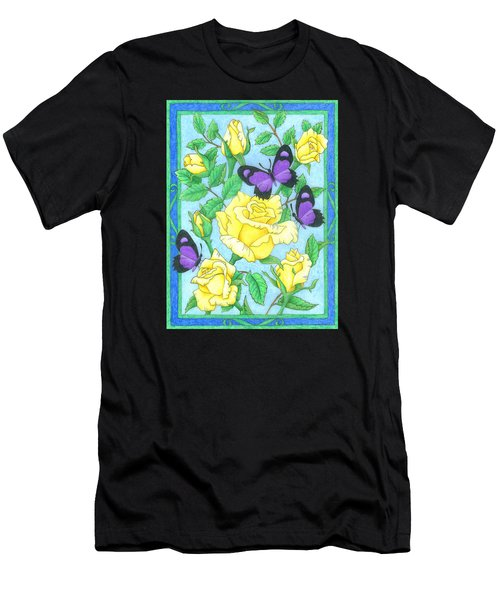 Butterfly Idyll-roses Men's T-Shirt (Athletic Fit)