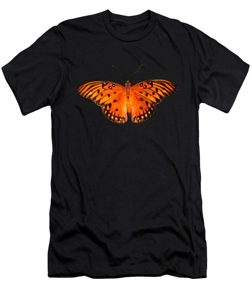 Butterfly In Dark Men's T-Shirt (Athletic Fit)