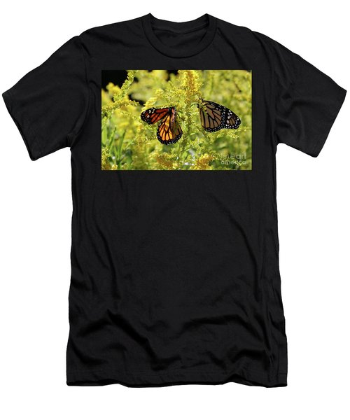 Butterfly In Fall  Men's T-Shirt (Athletic Fit)