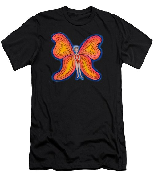 Butterfly Mantra Men's T-Shirt (Athletic Fit)