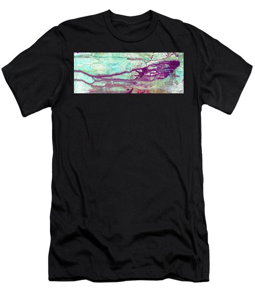 Butterfly Mind - Large Colorful Pastel Abstract Art Painting Men's T-Shirt (Athletic Fit)