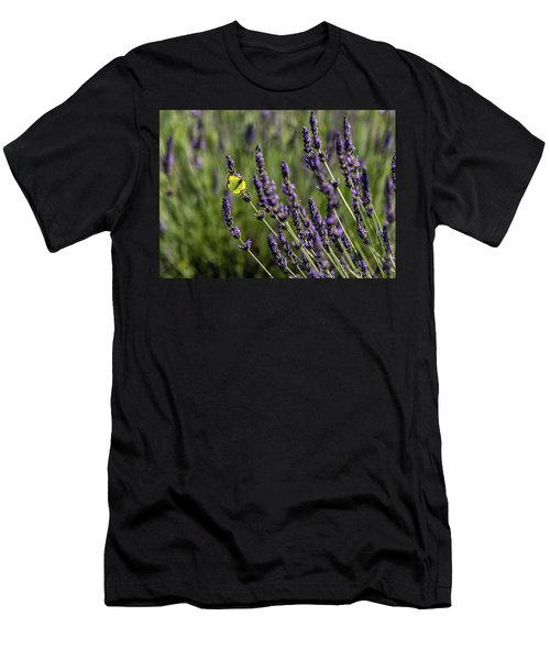 Butterfly N Lavender Men's T-Shirt (Athletic Fit)