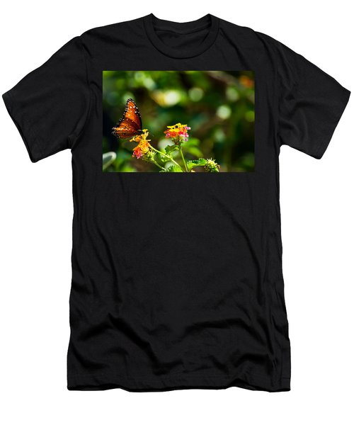 Butterfly On A Flower Men's T-Shirt (Athletic Fit)