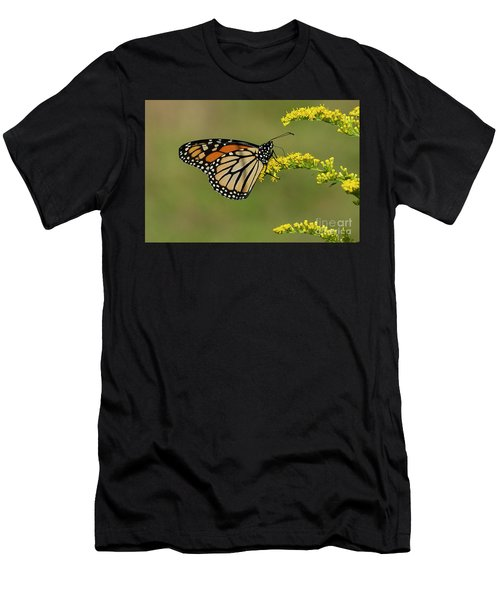 Butterfly On Flowers Men's T-Shirt (Athletic Fit)