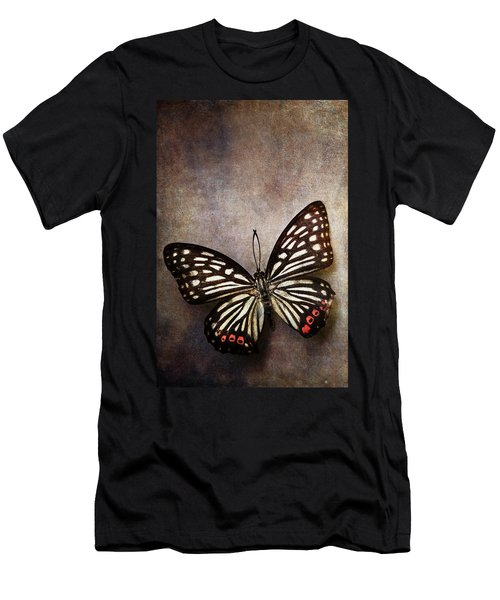 Butterfly Over Textured Background Men's T-Shirt (Athletic Fit)