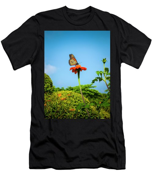 Butterfly Perch Men's T-Shirt (Athletic Fit)