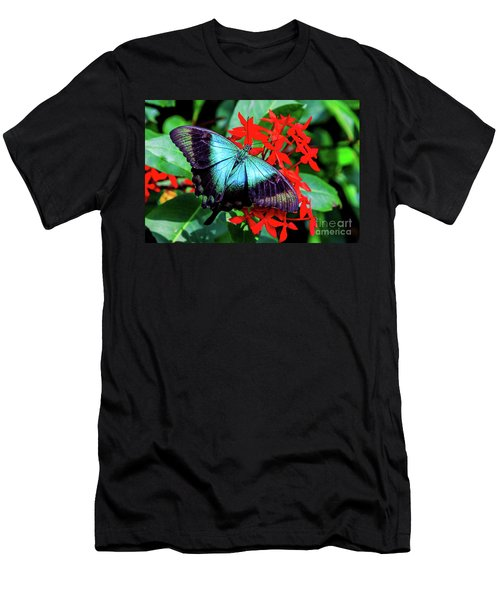 Men's T-Shirt (Athletic Fit) featuring the photograph Butterfly by Ray Shiu