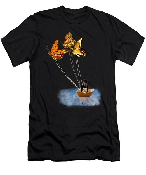 Butterfly Sailing Men's T-Shirt (Athletic Fit)