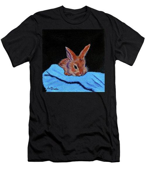 Butterscotch Bunny Men's T-Shirt (Slim Fit) by Susan Duda