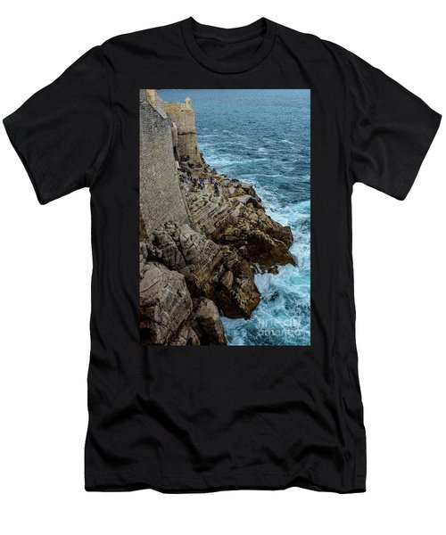 Buza Bar On The Adriatic In Dubrovnik Croatia Men's T-Shirt (Athletic Fit)