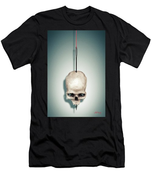 Men's T-Shirt (Athletic Fit) featuring the photograph By A Thread by Joseph Westrupp