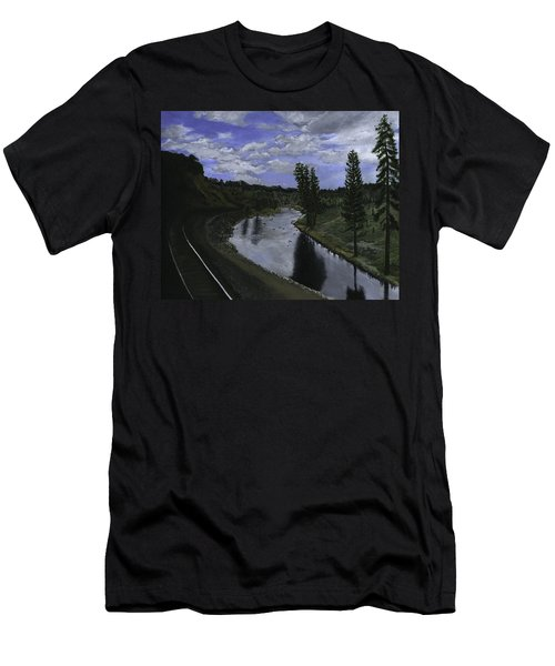 By Rail Men's T-Shirt (Athletic Fit)