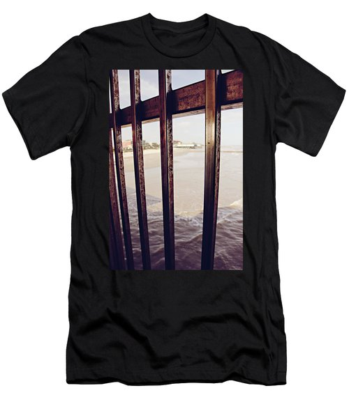 Men's T-Shirt (Slim Fit) featuring the photograph By The Sea by Trish Mistric