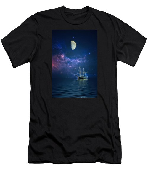 By Way Of The Moon And Stars Men's T-Shirt (Athletic Fit)