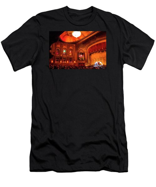 Men's T-Shirt (Slim Fit) featuring the photograph Byrd Theatre Organist II by Jean Haynes