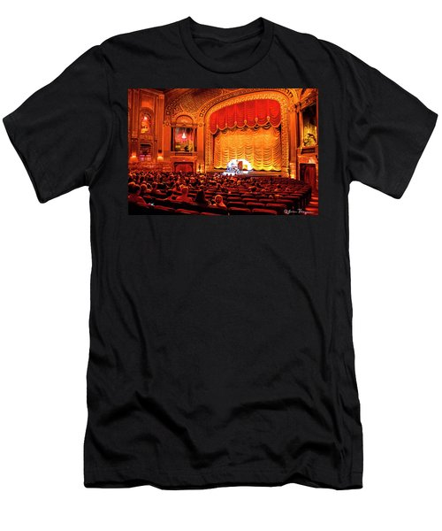 Men's T-Shirt (Slim Fit) featuring the photograph Byrd Theatre Organist by Jean Haynes