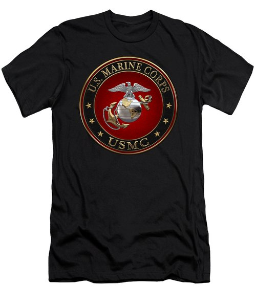 C O And Warrant Officer E G A Special Edition Over Black Velvet Men's T-Shirt (Athletic Fit)