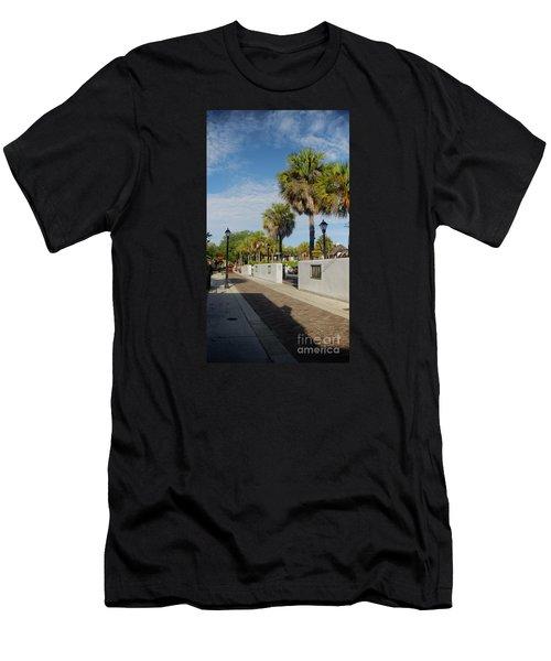 Cabbage Palms Along Hypolita Street Men's T-Shirt (Athletic Fit)