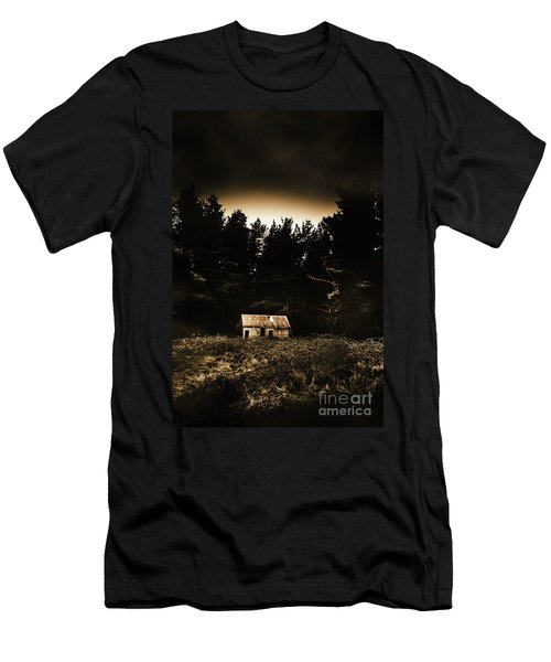 Cabin In The Woodlands  Men's T-Shirt (Athletic Fit)