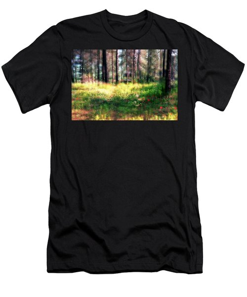 Cabin In The Woods In Menashe Forest Men's T-Shirt (Athletic Fit)