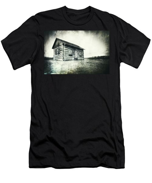 Men's T-Shirt (Slim Fit) featuring the photograph Cabin Near Paradise Springs - Kettle Moraine State Forest by Jennifer Rondinelli Reilly - Fine Art Photography