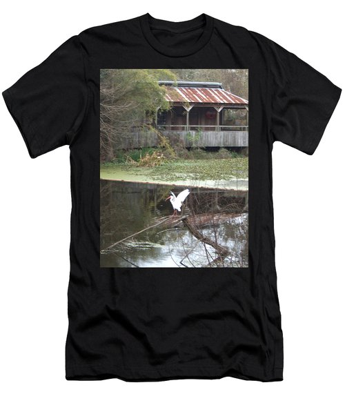 Cabin On The Bayou Men's T-Shirt (Athletic Fit)