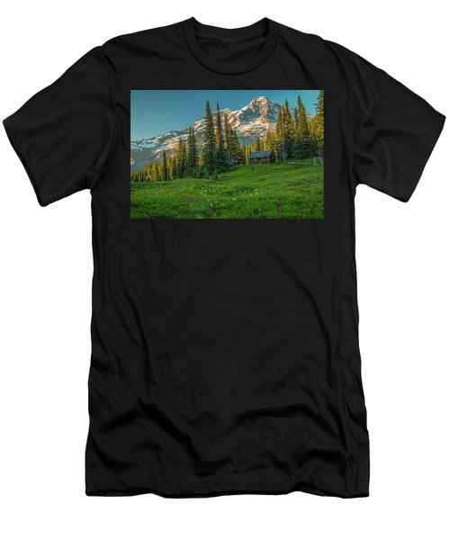 Cabin On The Hill Men's T-Shirt (Athletic Fit)