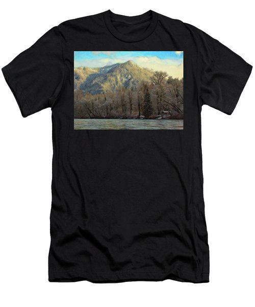 Cabin On The Skagit River Men's T-Shirt (Athletic Fit)