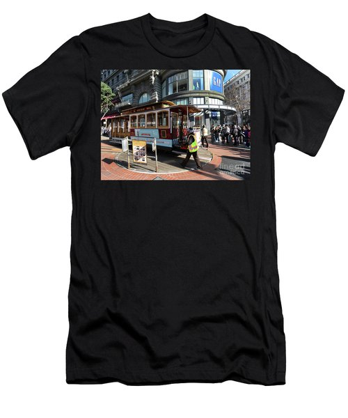 Cable Car At Union Square Men's T-Shirt (Athletic Fit)