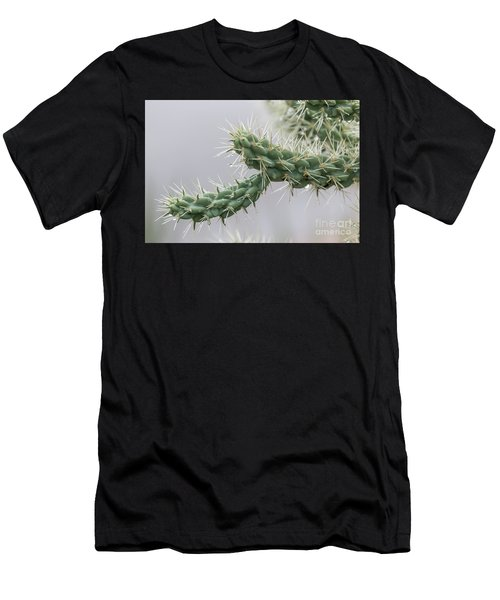 Cactus Branch With Wet White Long Needles Men's T-Shirt (Athletic Fit)