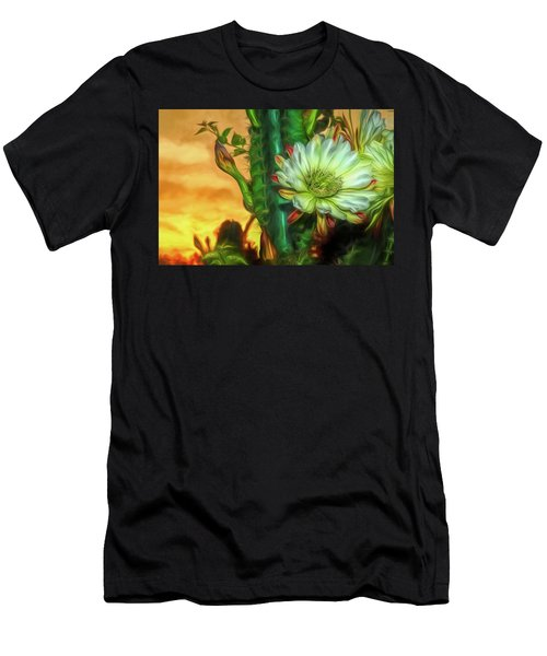Cactus Flower At Sunrise Men's T-Shirt (Athletic Fit)