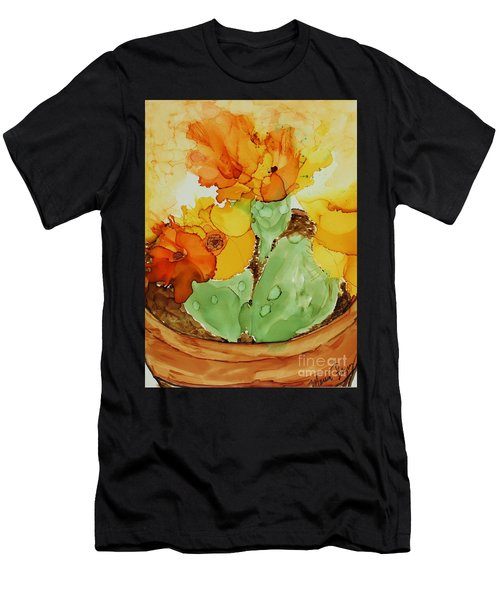 Cactus In A Pot Men's T-Shirt (Athletic Fit)