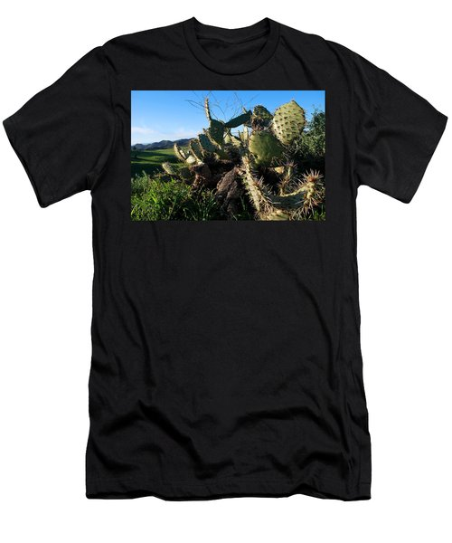 Cactus In The Mountains Men's T-Shirt (Athletic Fit)