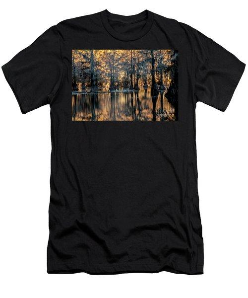 Caddo Lake Sunrise Men's T-Shirt (Slim Fit) by Iris Greenwell