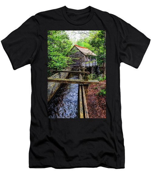 Cades Cove Grist Mill In The Great Smoky Mountains National Park  Men's T-Shirt (Athletic Fit)