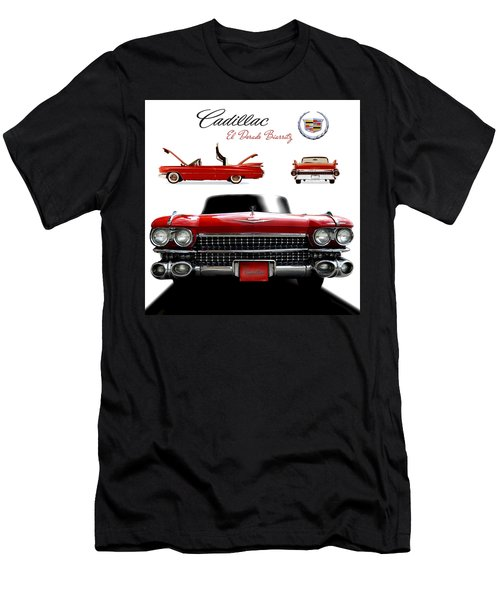 Men's T-Shirt (Slim Fit) featuring the photograph Cadillac 1959 by Gina Dsgn