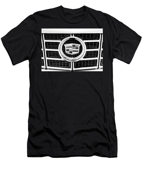 Cadillac Emblem Front Bw Men's T-Shirt (Athletic Fit)