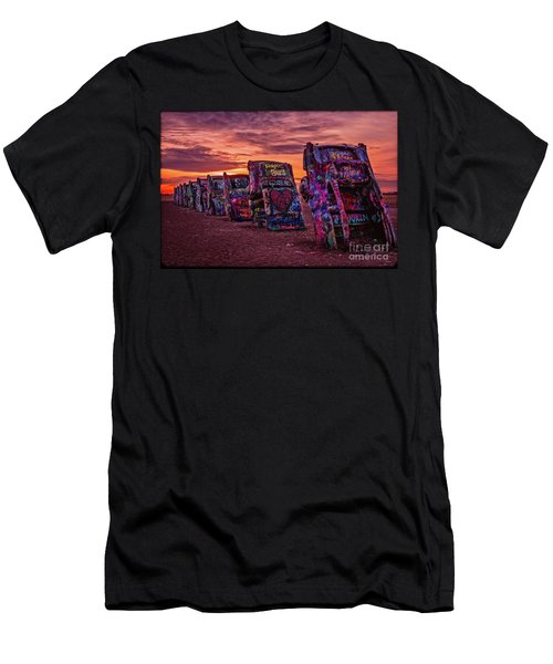 Cadillac Ranch At Sunrise  Men's T-Shirt (Athletic Fit)