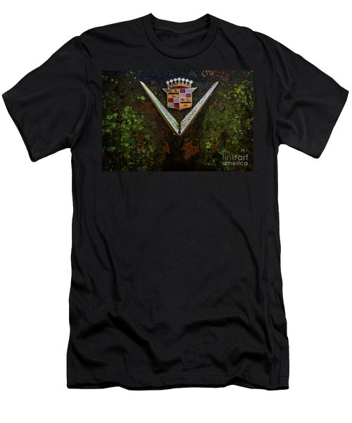 Cadillac Vee And Crest Men's T-Shirt (Athletic Fit)