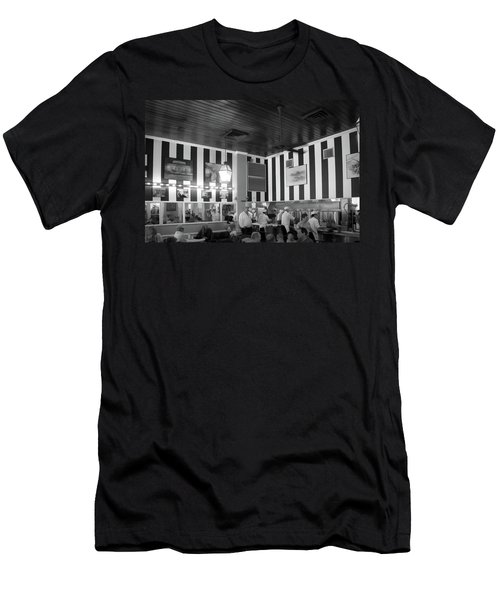 Cafe Du Monde In Black And White Men's T-Shirt (Athletic Fit)