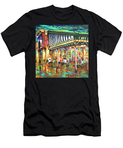 Cafe Du Monde Night Men's T-Shirt (Athletic Fit)