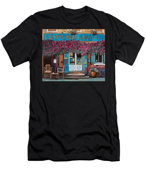 caffe del Aigare Men's T-Shirt (Athletic Fit)