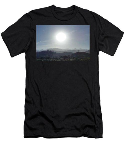Cajon Pass Sunset Men's T-Shirt (Athletic Fit)