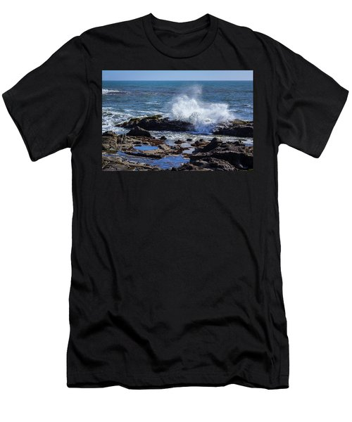 Wave Crashing On California Coast Men's T-Shirt (Athletic Fit)