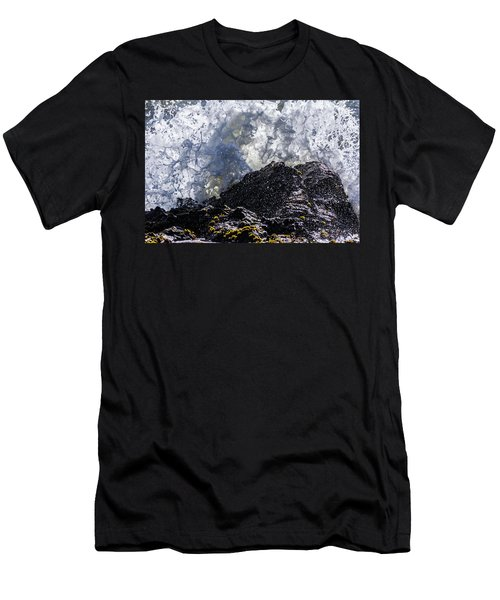 California Coast Wave Crash 5 Men's T-Shirt (Athletic Fit)