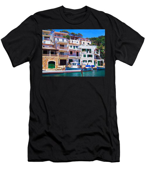 Men's T-Shirt (Slim Fit) featuring the photograph Cala Figuera by Andreas Thust