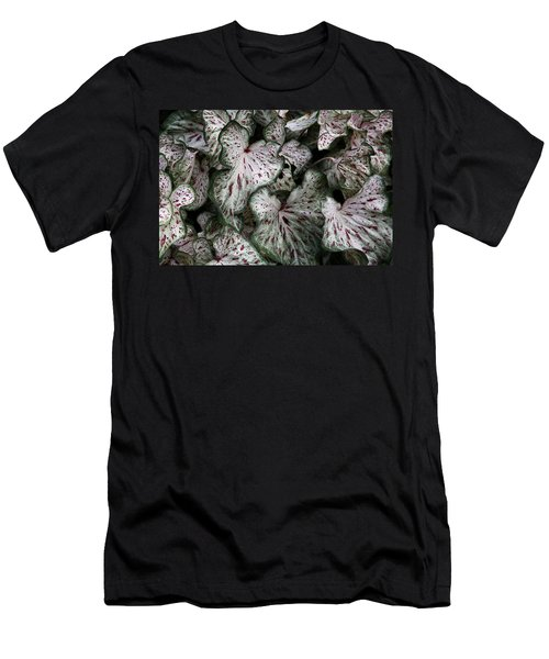 Men's T-Shirt (Athletic Fit) featuring the photograph Caladium Leaves by Debi Dalio