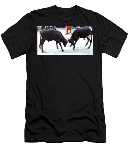 Calf Fighting Men's T-Shirt (Athletic Fit)