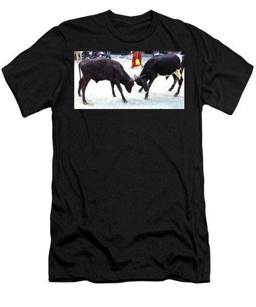 Calf Fighting Men's T-Shirt (Athletic Fit)