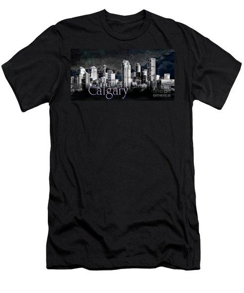 Men's T-Shirt (Athletic Fit) featuring the photograph Calgary Skyline Art by Brad Allen Fine Art